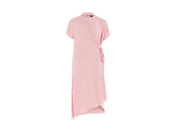 Slash neck wrap midi dress from Topshop