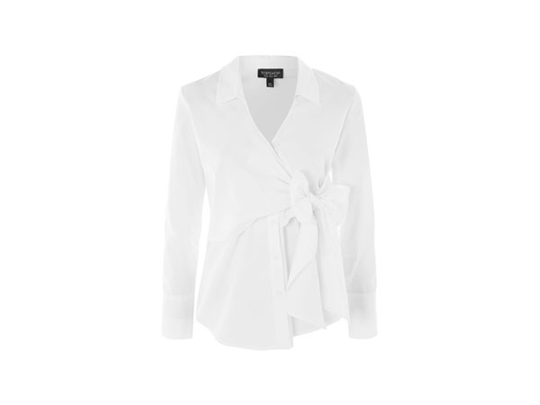 Tie wrap poplin shirt from Topshop
