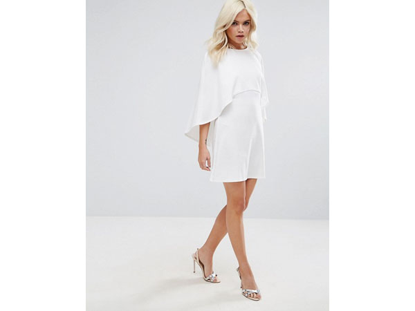 Cape back mini shift dress from ASOS Petite