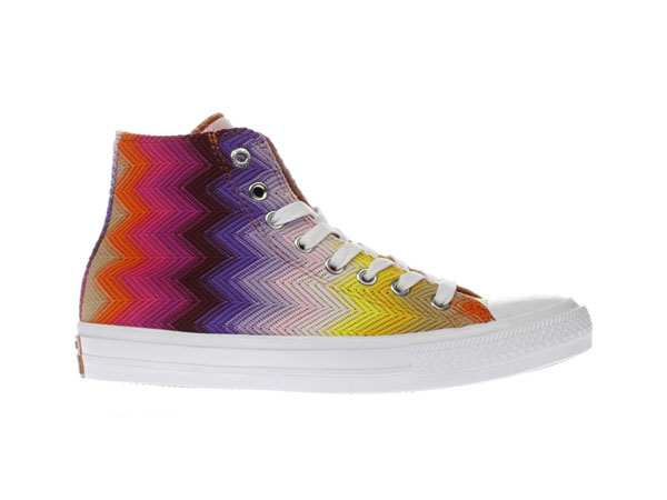 Purple and pink Chuck Taylor Missoni trainers from Converse