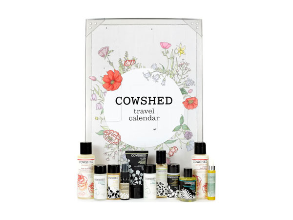 Travel countdown calendar from Cowshed